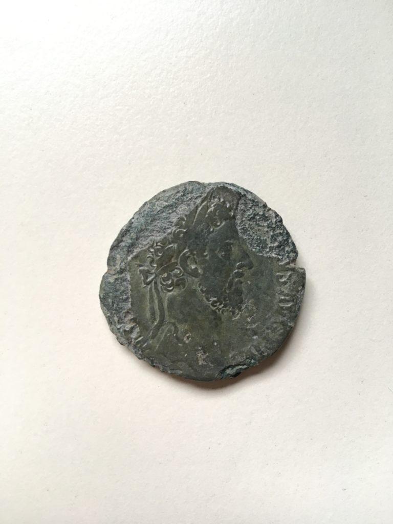 Bronzemünze aus dem römischen Reich