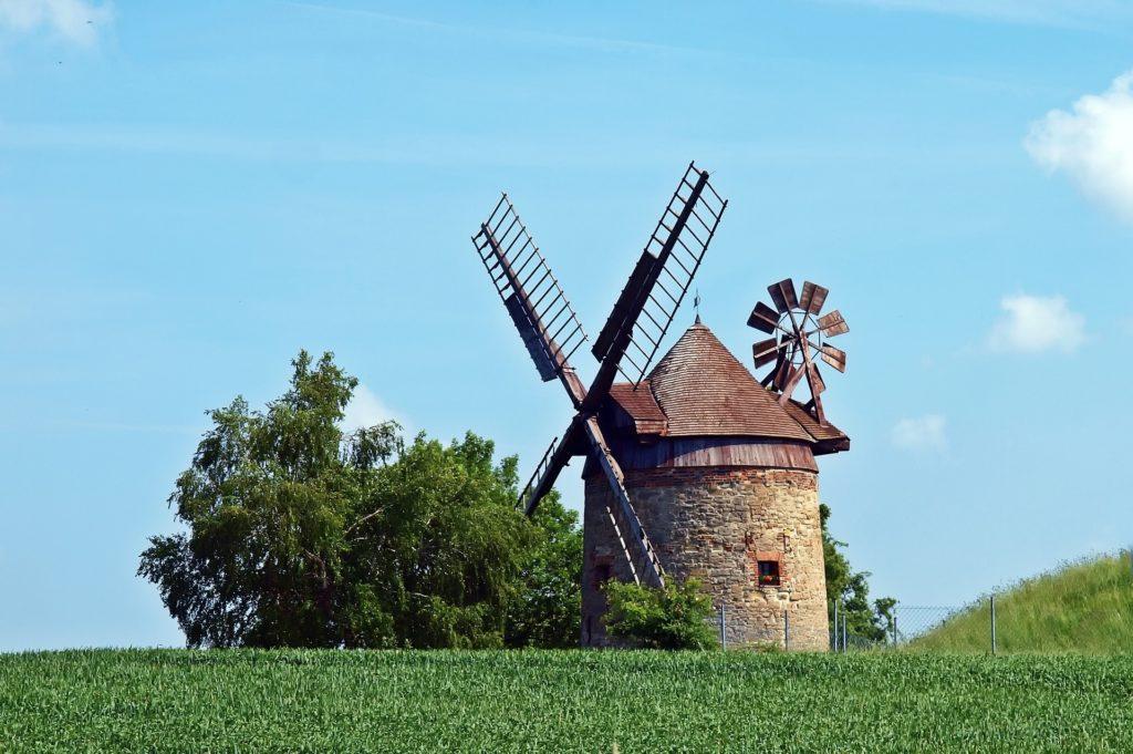 Eine historische Mühle
