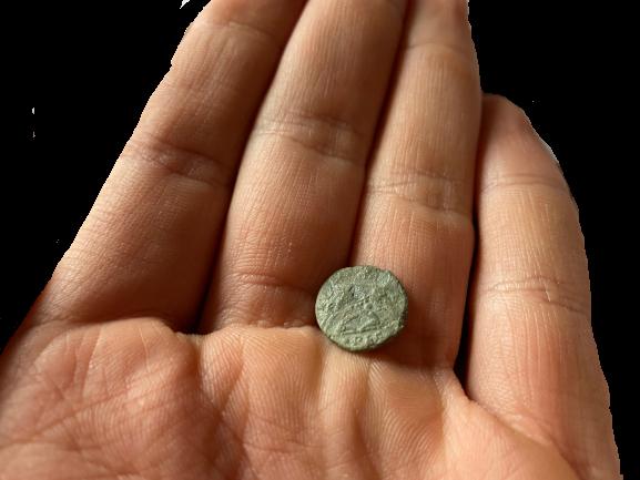 Münze die sehr klein ist